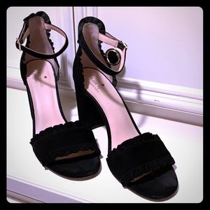 Black suede Kate Spade block heels. Gorgeous!